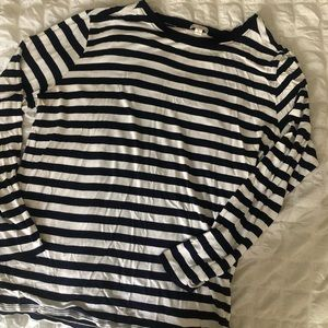 GAP Navy and white striped long sleeve